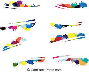 blots, multi-coloré