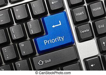 (blue, -, conceptuel, key), clavier, priorité