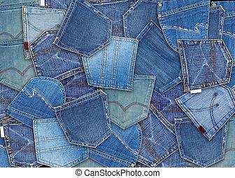 blue-jeans, poche