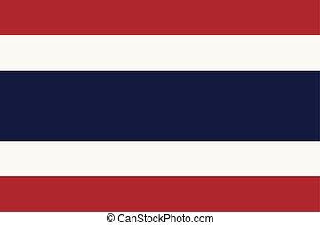 blue), pays, drapeau national, (red, blanc, thaïlande