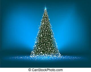 blue., résumé, arbre, eps, vert, 8, noël
