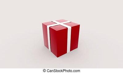 boîte, cadeau, ouverture