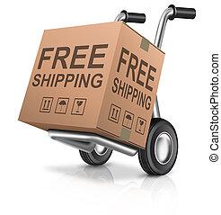 boîte, carboard, gratuite, expédition