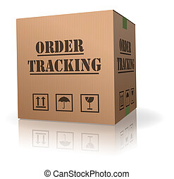 boîte, carton, ordre, poursuite