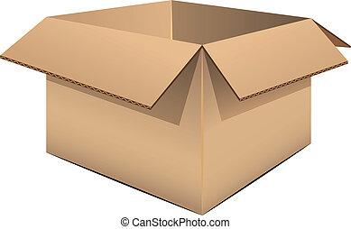 boîte, carton, vide