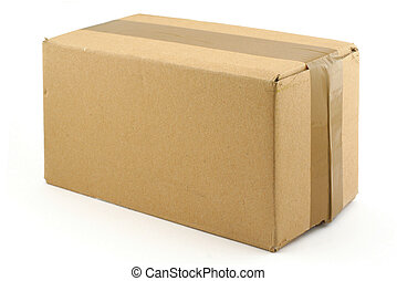 boîte, carton, whi
