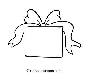 boîte, croquis, cadeau