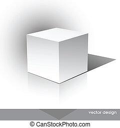 boîte, cube-shaped, logiciel, paquet