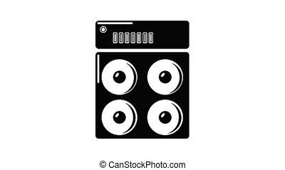 boîte icône, orateur, animation