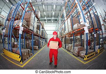 boîte, ouvrier
