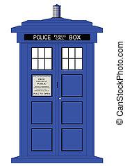 boîte, police, britannique