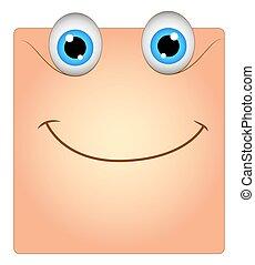 boîte, sourire, smiley, heureux, mignon