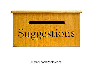 boîte, suggestion