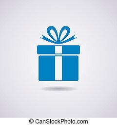 boîte, vecteur, cadeau, icône