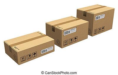 boîtes carton, ensemble