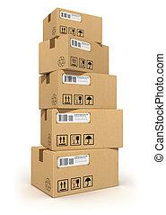 boîtes carton, pile