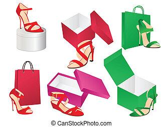 boîtes, chaussures
