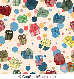 boîtes, fond, seamless, cadeau
