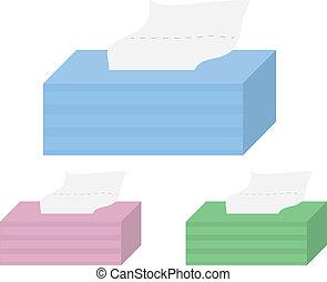 boîtes, tissu