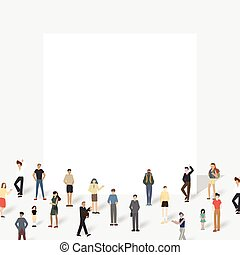 board., grand, groupe, gens