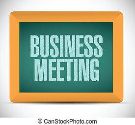 board., réunion, affaires signent