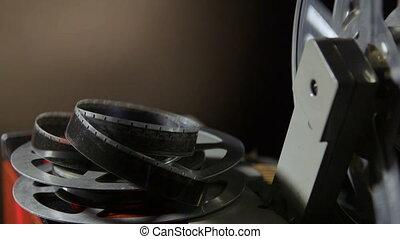 bobine film, projecteur, pellicule