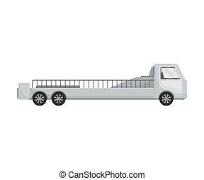 body., illustration, arrière-plan., vecteur, camion, long, blanc