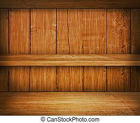 bois, étagère, chêne, fond