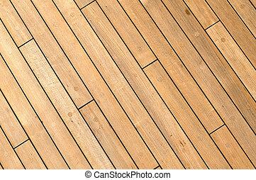 bois, bateau, diagonal, fond, pont