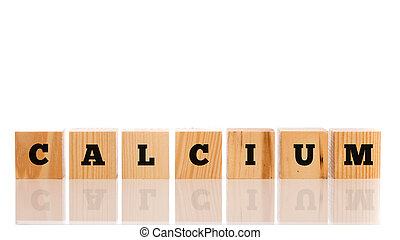 bois, -, blocs, mot, calcium