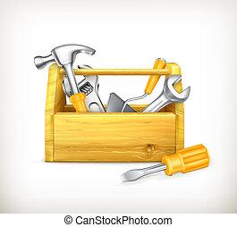 bois, boîte outils