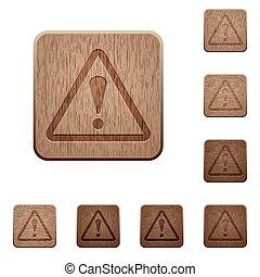 bois, boutons, varning
