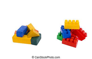 bois, bricks?, ou, plastique