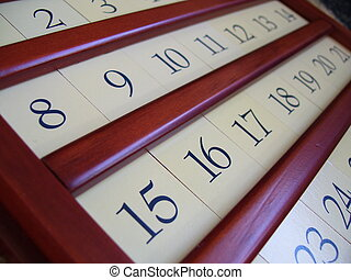 bois, calendrier