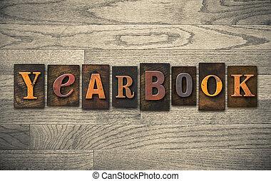 bois, concept, annuaire, letterpress