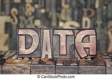 bois, concept, données