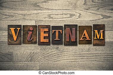 bois, concept, letterpress, vietnam