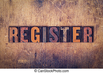 bois, concept, type, letterpress, registre