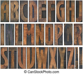 bois, coupure, lettres