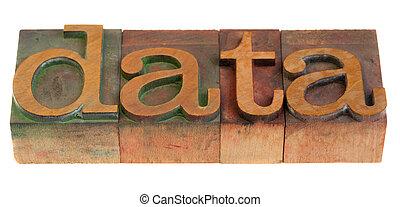 bois, données, oeil caractère, mot