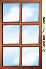 bois, fenêtre, glasspanes