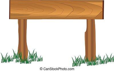bois, herbe, planche