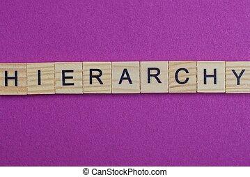 bois, hiérarchie, mot, lettres