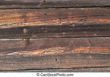 bois, house., mur, vieux, texture