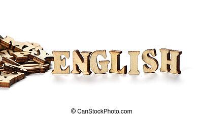 """bois, lettres, fait, mot, """"english"""""""