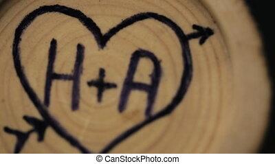 bois, mariage, arbre, décoration, forêt, dehors, célébration