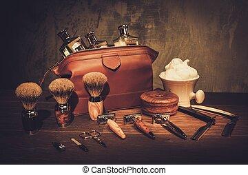 bois, monsieur, planche, luxe, accessoires