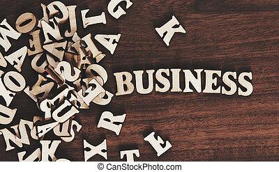 bois, mot, fait, lettres, business
