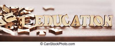 bois, mot, fait, lettres, education