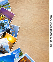 bois, photos, voyager, fond